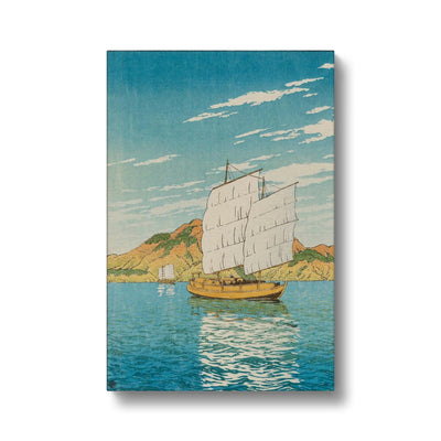 Ship in Bingo District (1923) - Canvas Black Frame