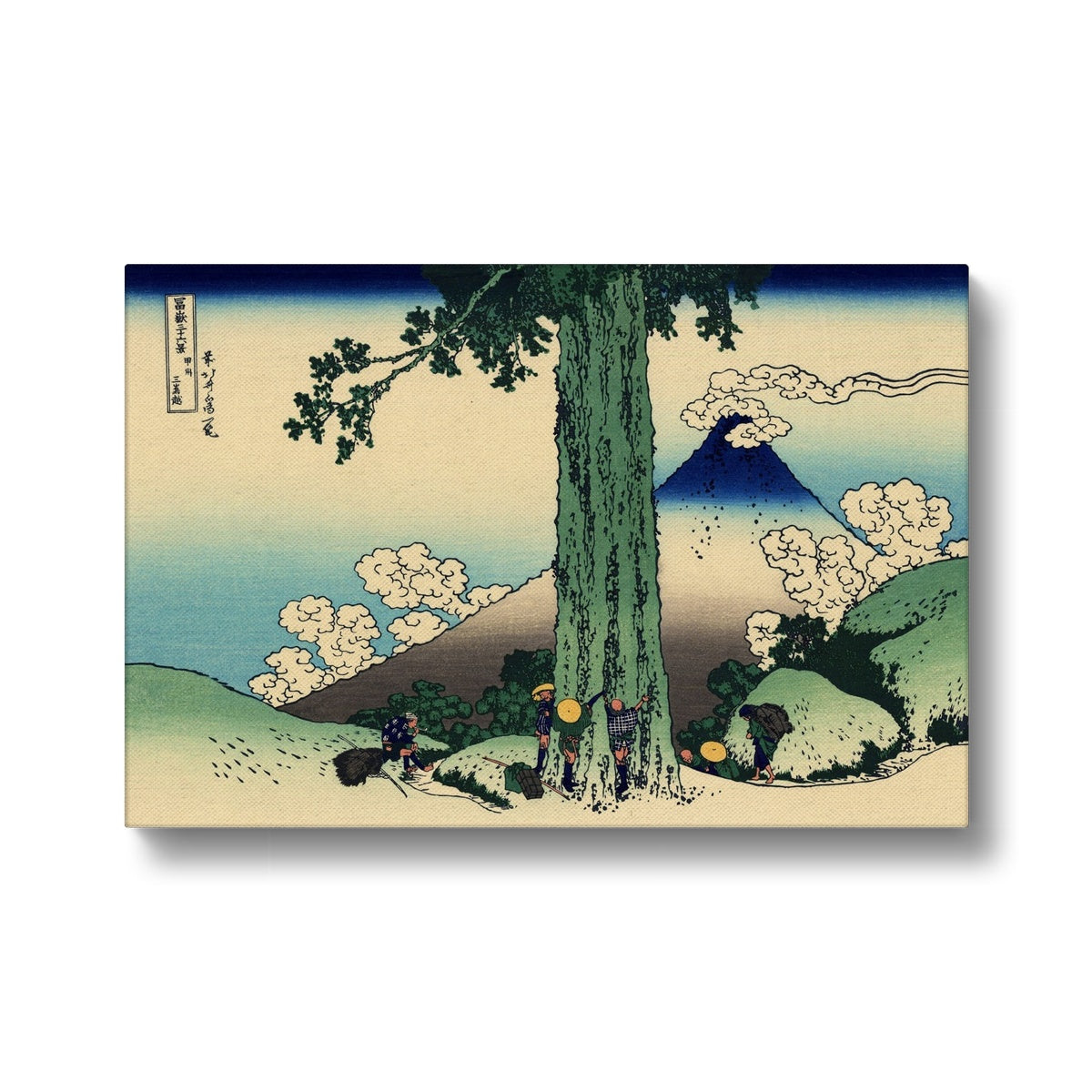 Mishima Pass In Kai Province - Canvas Black Frame