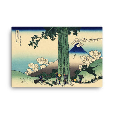 "Mishima Pass In Kai Province-Hokusai-Wall Art-24""x36""-Canvas-Rising Sun Prints"