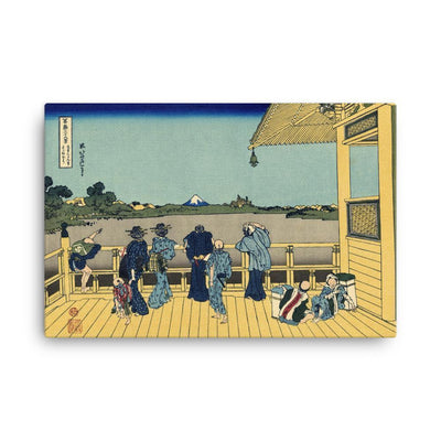 "Sazai Hall - Temple Of Five Hundred Rakan-Hokusai-Wall Art-24""x36""-Canvas-Rising Sun Prints"