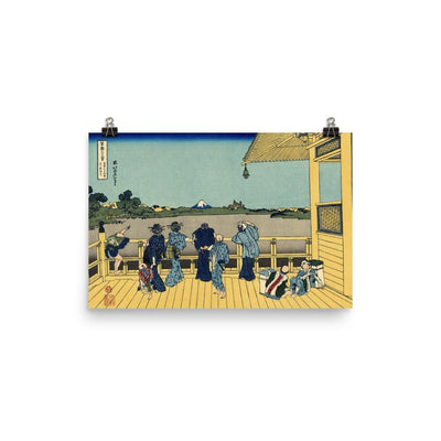 "Sazai Hall - Temple Of Five Hundred Rakan-Hokusai-Wall Art-12""x18""-Premium Giclee Print (No Margin)-Rising Sun Prints"