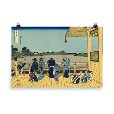 "Sazai Hall - Temple Of Five Hundred Rakan-Hokusai-Wall Art-24""x36""-Premium Giclee Print (No Margin)-Rising Sun Prints"