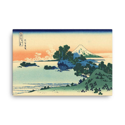 "Shichiri Beach In Sagami Province-Hokusai-Wall Art-24""x36""-Canvas-Rising Sun Prints"