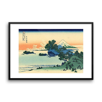 "Shichiri Beach In Sagami Province-Hokusai-Wall Art-24""x36""-Framed Print-Rising Sun Prints"