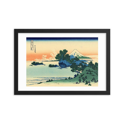 "Shichiri Beach In Sagami Province-Hokusai-Wall Art-12""x18""-Framed Print-Rising Sun Prints"