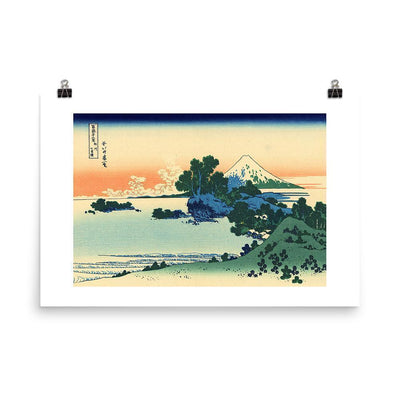 Shichiri Beach In Sagami Province-Hokusai-Wall Art-Rising Sun Prints