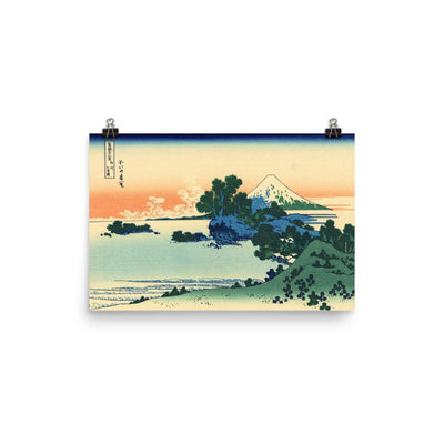 "Shichiri Beach In Sagami Province-Hokusai-Wall Art-12""x18""-Premium Giclee Print (No Margin)-Rising Sun Prints"