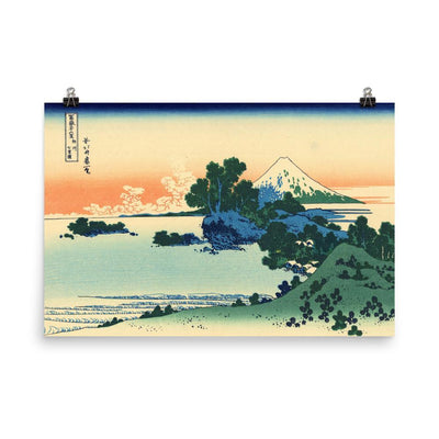"Shichiri Beach In Sagami Province-Hokusai-Wall Art-24""x36""-Premium Giclee Print (No Margin)-Rising Sun Prints"