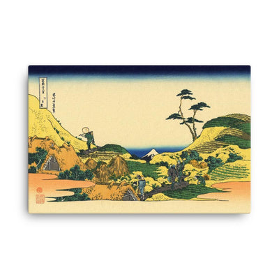 "Shimomeguro-Hokusai-Wall Art-24""x36""-Canvas-Rising Sun Prints"