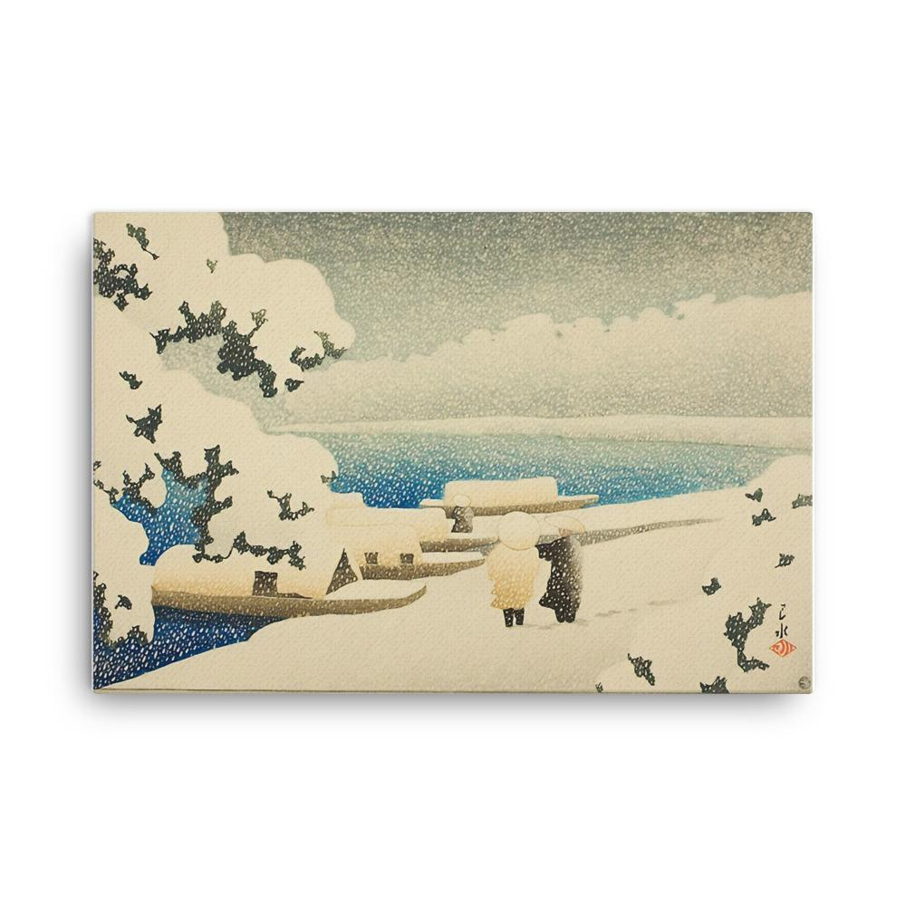 Snow at Amanohashidate (1921)
