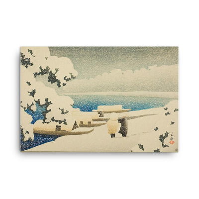 "Snow at Amanohashidate (1921)-Kawase Hasui-Wall Art-24""x36""-Canvas-Rising Sun Prints"