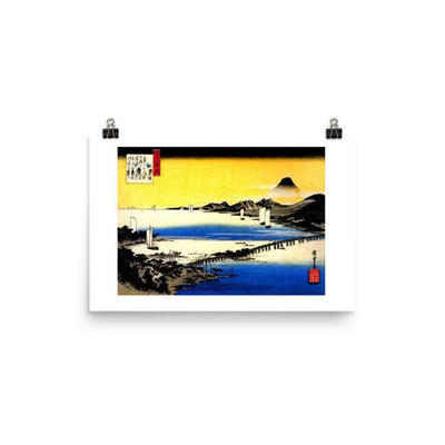 "Sunset Glow at Seta-Hiroshige-Wall Art-12""x18""-Premium Giclee Print-Rising Sun Prints"