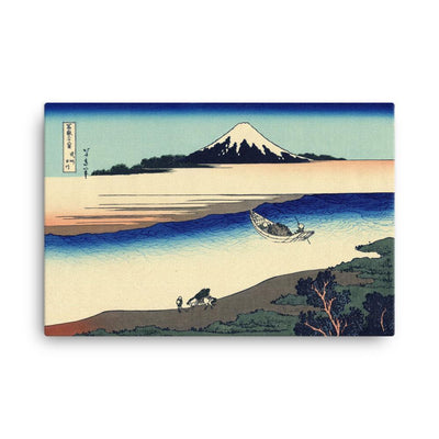 "Tama River In Musashi Province-Hokusai-Wall Art-24""x36""-Canvas-Rising Sun Prints"