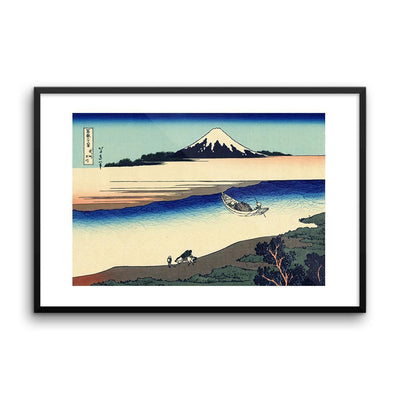 "Tama River In Musashi Province-Hokusai-Wall Art-24""x36""-Framed Print-Rising Sun Prints"