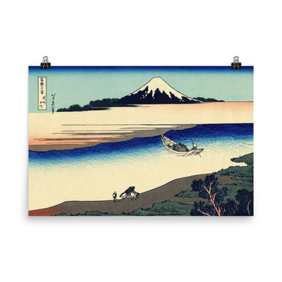 "Tama River In Musashi Province-Hokusai-Wall Art-24""x36""-Premium Giclee Print (No Margin)-Rising Sun Prints"