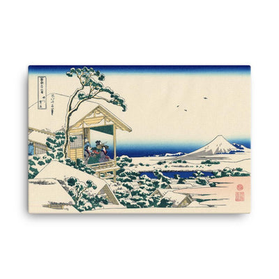 "Tea House At Koishikawa. The Morning After A Snowfall-Hokusai-Wall Art-24""x36""-Canvas-Rising Sun Prints"