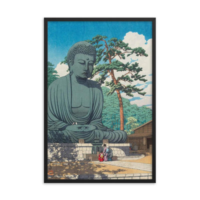 "The Great Buddha at Kamakura (1930)-Kawase Hasui-Wall Art-12""x18""-Framed Print-Rising Sun Prints"