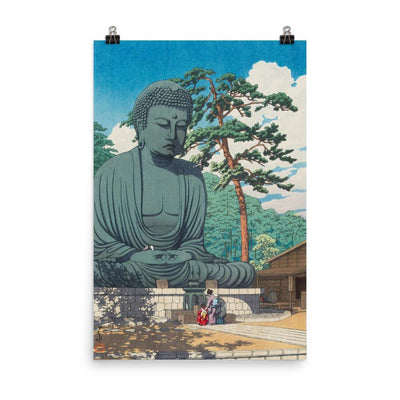 "The Great Buddha at Kamakura (1930)-Kawase Hasui-Wall Art-12""x18""-Premium Giclee Print-Rising Sun Prints"