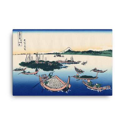 "Tsukuda Island In Musashi Province-Hokusai-Wall Art-24""x36""-Canvas-Rising Sun Prints"