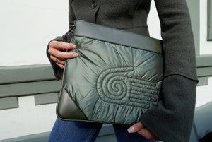 Healing Hand Clutch Bag <br> Olive Green