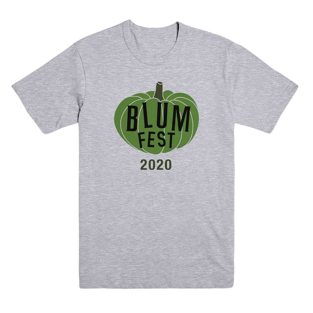 Blumfest 2020 Grey T-Shirt with Green Pumpkin