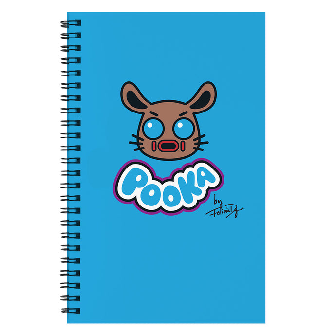 Pooka Lives! x Felicia Day Blue Notebook