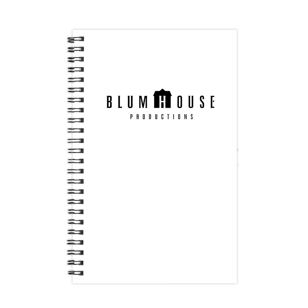 Blumhouse Productions Logo White Notebook