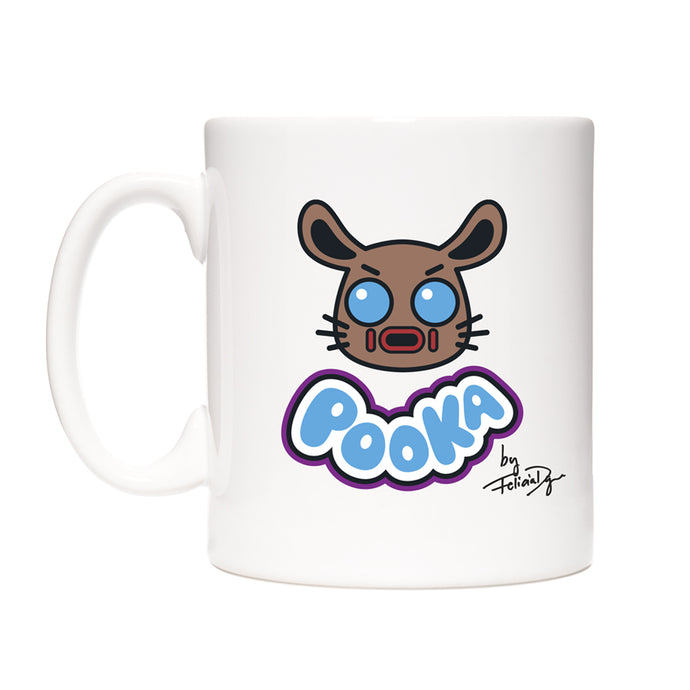 Pooka Lives! x Felicia Day White Mug