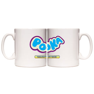 Pooka! Naughty or Nice Logo White Mug