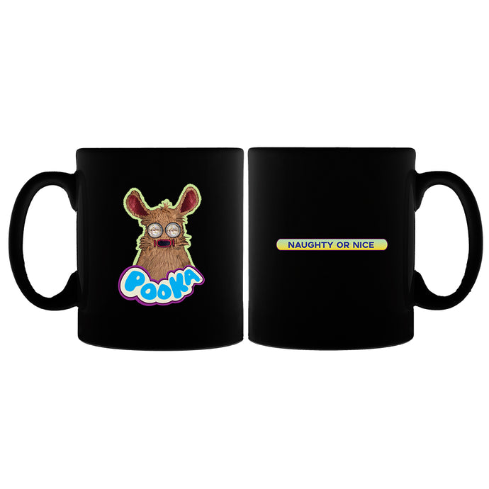 Pooka! Naughty or Nice Black Mug