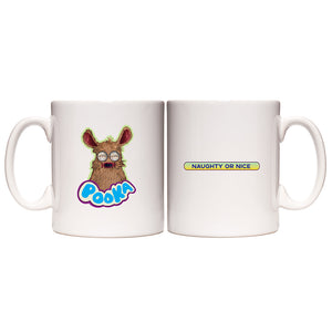 Pooka! Naughty or Nice White Mug