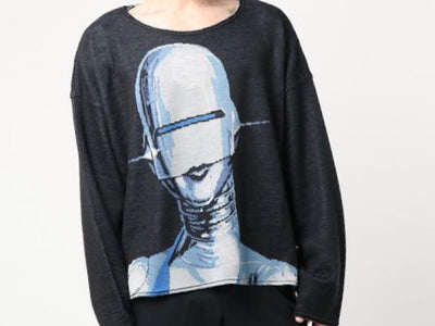 "Soryama Knit Shirt- KNIT GANG COUNCIL CREWNECK SWEATER ""SEXY ROBOT"""