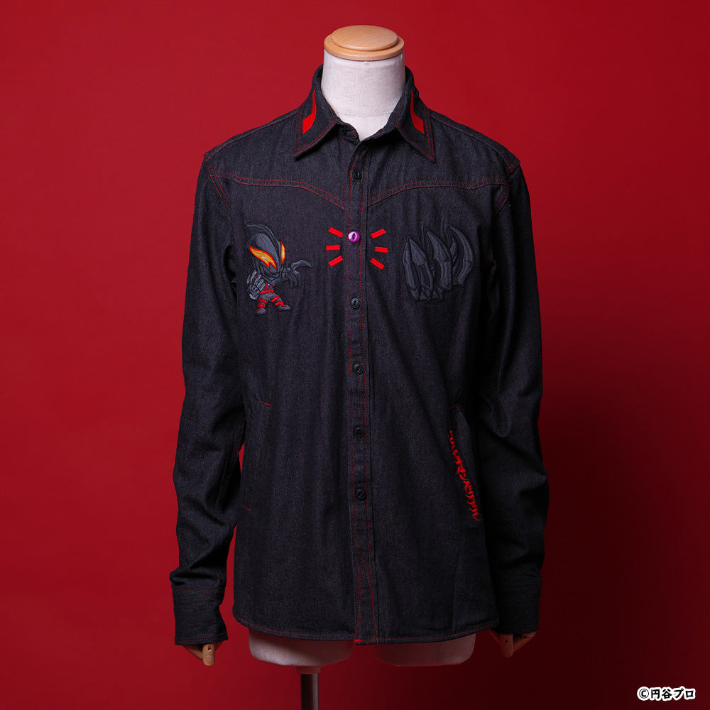 Darkness Heels Ultraman Belial Black Denim Shirt