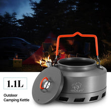 Load image into Gallery viewer, 1.1L Outdoor Camping Kettle Hot Water Pot Teapot Coffee Aluminum Alloy - Hiking Picnic Portable