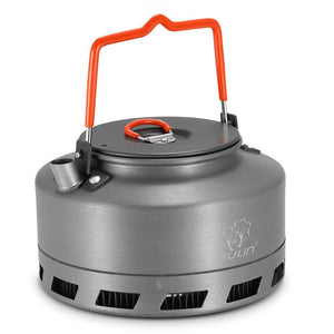 1.1L Outdoor Camping Kettle Hot Water Pot Teapot Coffee Aluminum Alloy - Hiking Picnic Portable