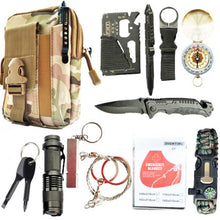 Load image into Gallery viewer, 12 in 1 Survival Spy Kit Set Outdoor Camping Travel Multifunction First Aid SOS EDC Emergency Supplies Tactical for Wilderness