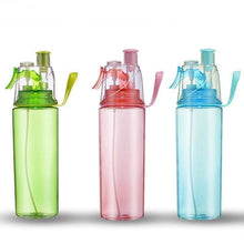 Load image into Gallery viewer, Spray Water Bottle Sports Outdoor Dual-use Plastic Portable Drinkware