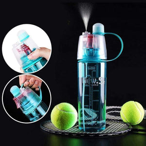 Spray Water Bottle Sports Outdoor Dual-use Plastic Portable Drinkware
