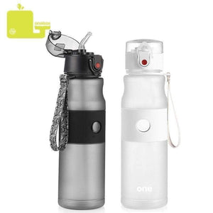 Sport Water Bottle Portable Straw Direct Drinking Lids Leak-proof - 25.4 fl oz - 750ml