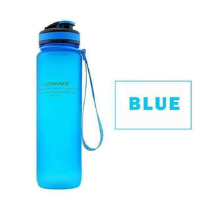 UZSPACE Water Bottle 22oz/650ml 34oz/1L Capacity PBA-Free Plastic
