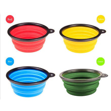 Load image into Gallery viewer, Collapsible Folding Silicone Dog Bowl