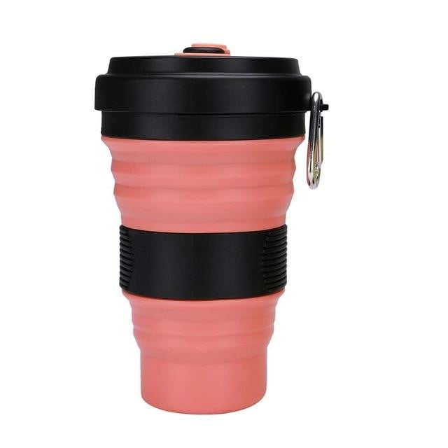 Collapsible Coffee Cup with Lid 550ml Leak Proof BPA Free Eco Reusable Travel Coffee Mug