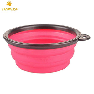 Collapsible Folding Silicone Dog Bowl