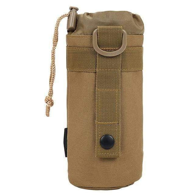 Tactical Water Bottle Case - Travel Camping Outdoors Tote Holder practical Khaki Black Foldable