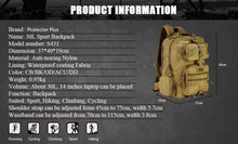 Load image into Gallery viewer, 30L Tactical Military Backpack Multi-function Waterproof Nylon Travel Pack Knapsack
