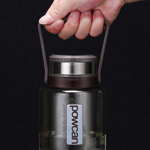 POWCAN - Large Capacity Bottle 1000ML 1500ML 2000ML Outdoor Water Bottle Sport Leak-Proof Seal