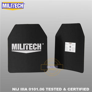 MILITECH 10x12 inches Ultra Light Weight UHMWPE NIJ Level IIIA 3A Ballistic Panel Bulletproof Backpack PE Plate
