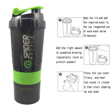Load image into Gallery viewer, Sports Shaker Water Bottle Protein Powder Mixing Bottle Nutrition Fitness