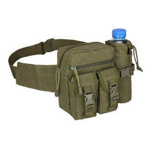 Outdoor Hip Pack for Water Bottle - Military Tactical Bag Waterproof Camping Hiking Pouch