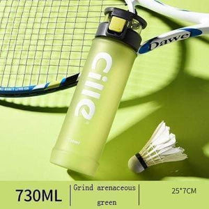 CILLE - NEW STYLE - Athletic Sports Water Bottle PBA-free Plastic - 730ML Pop-top Leak Proof Lid